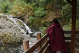 Rush_Creek_Falls_092_05202016 - Mom checking out Rush Creek Falls from the sheltered overlook part way down the Rush Creek Ramp at Flume 28