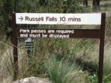 Russell_Falls_006_jx_11282006 - Signage suggesting that reaching Russell Falls was definitely a lot shorter on our November 2006 visit than it was during our November 2017 visit