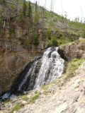 Rustic_Falls_004_jx_06232004 - Walking a little further down the Grand Loop Road to start seeing more of Rustic Falls' rippling front during our visit in June 2004