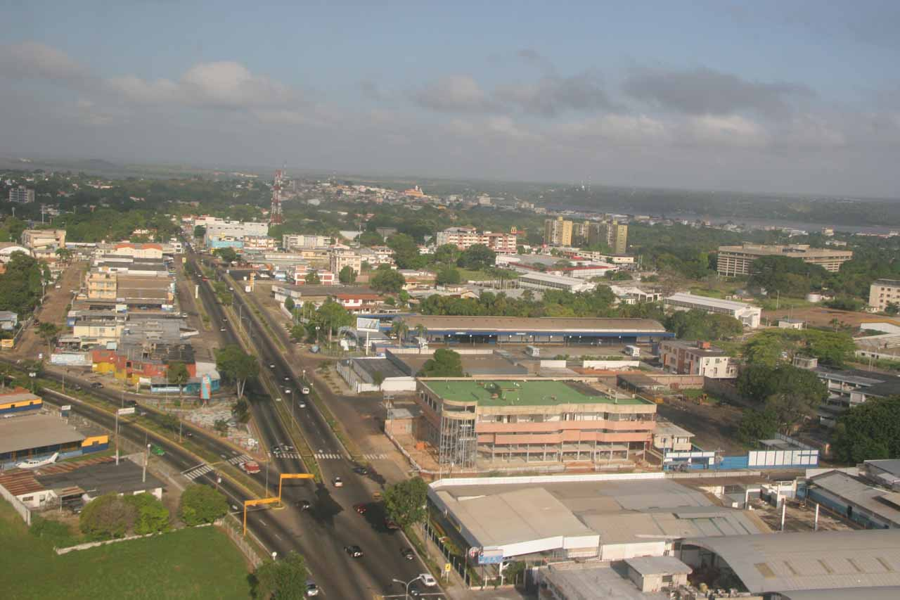 Looking over Ciudad Bolivar as the plane took off