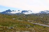 Rv55_504_07222019 - Contextual view towards the glaciers of the Sognefjellet just as the clouds started to lift as seen from the Sognefjellsvegen