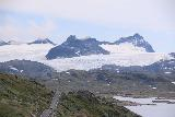 Rv55_546_07222019 - Zoomed in look at the glaciers of Sognefjellet and the Sognefjellsvegen leading towards it