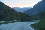 Rv64_Rv660_012_07162019 - Looking ahead at the setting sun as I was descending towards Myklebostad en route to Andalsnes