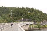 Rv705_021_07132019 - Looking back over the bridge spanning the Stjørdalselva towards the town of Hell