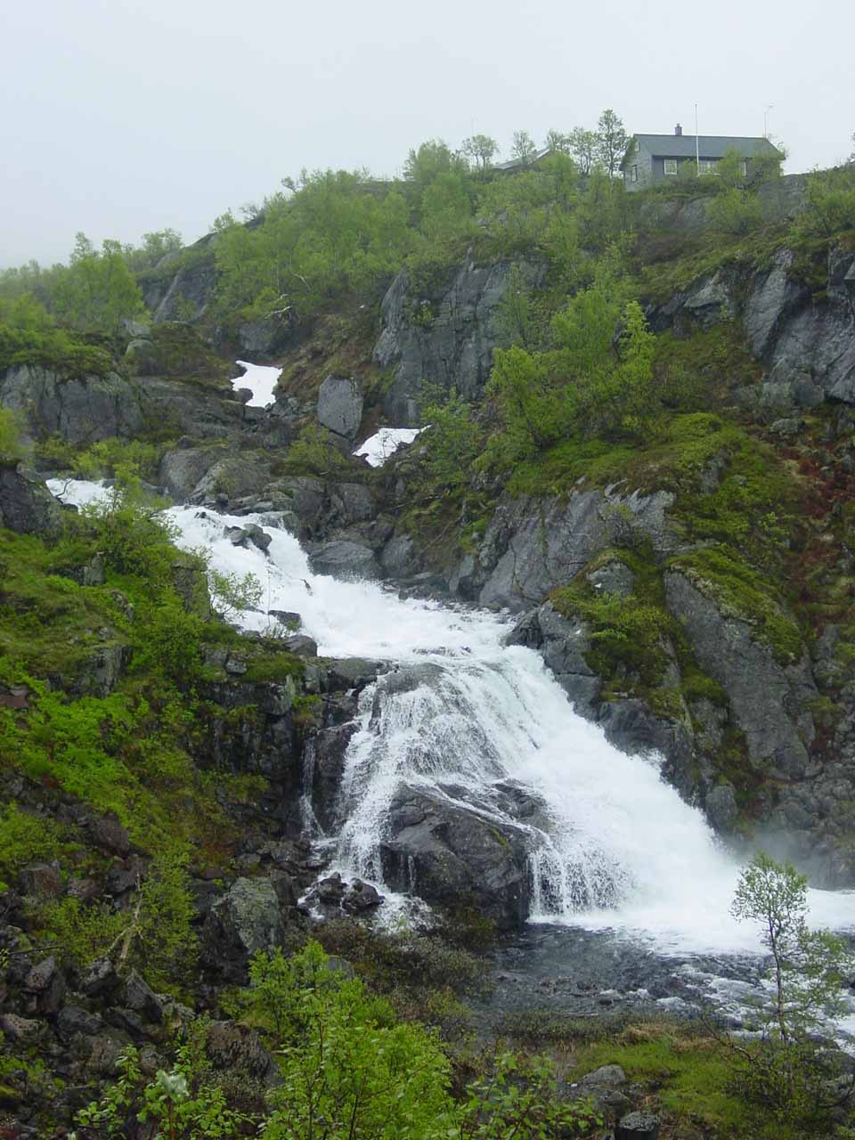 One of the waterfalls en route to the moors between Sauda and Røldal