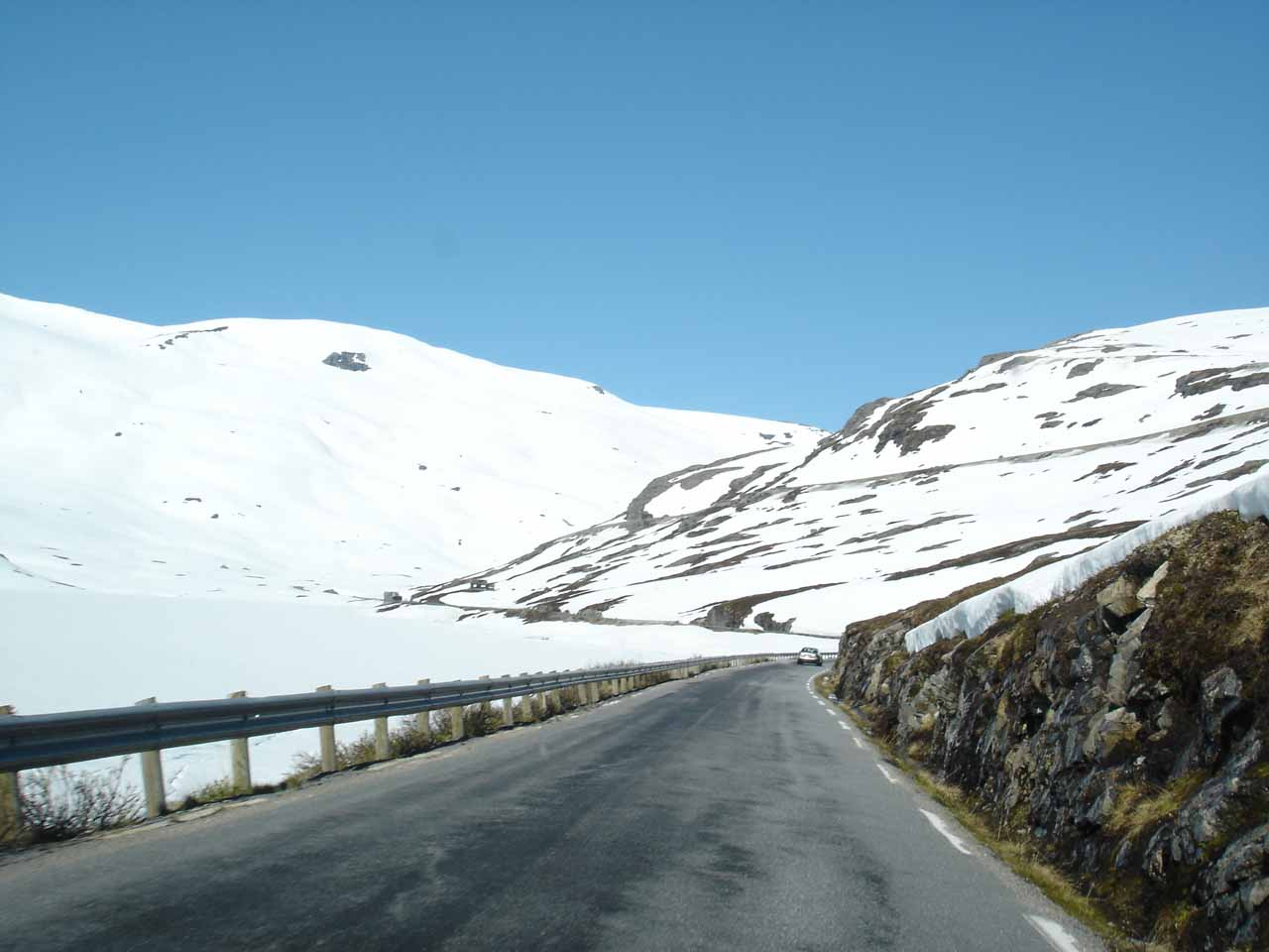 Driving amongst the snow in the mountainous Route 63