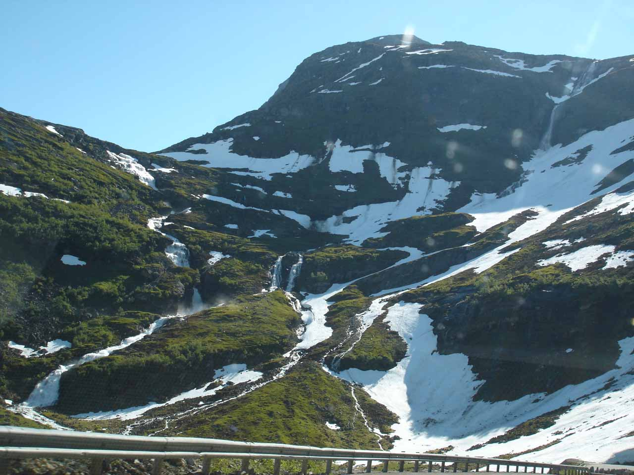 This was our view of what I believe to be the uppermost tiers of Kvanndalsfossen as we were descending towards Kvanndalsbrua on Road 63