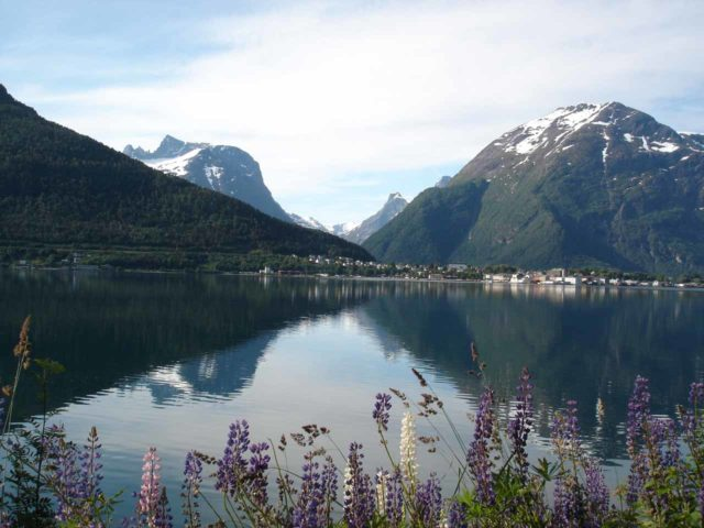 Rv_64_003_jx_07032005 - On the far northern end of Romsdalen was the gorgeous fjordside town of Åndalsnes, where Julie and I spent the night on the day of our visit to both Romsdalen and Trollstigen