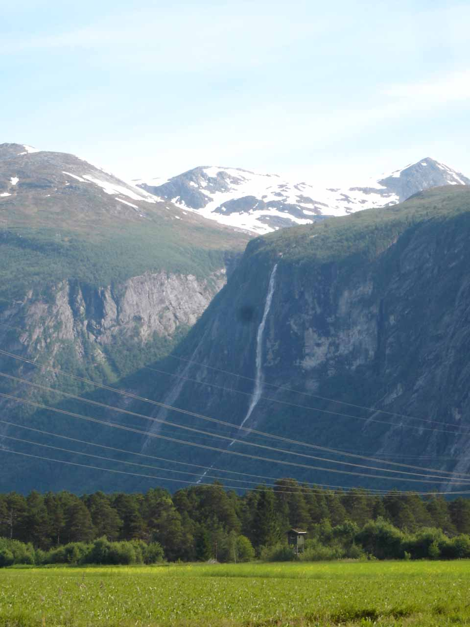 This was our first look at Strandfossen earlier in the day before we headed south into Eikesdalen