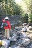 Ryde_Falls_017_12202009 - Julie crossing the creek en route to Ryde Falls