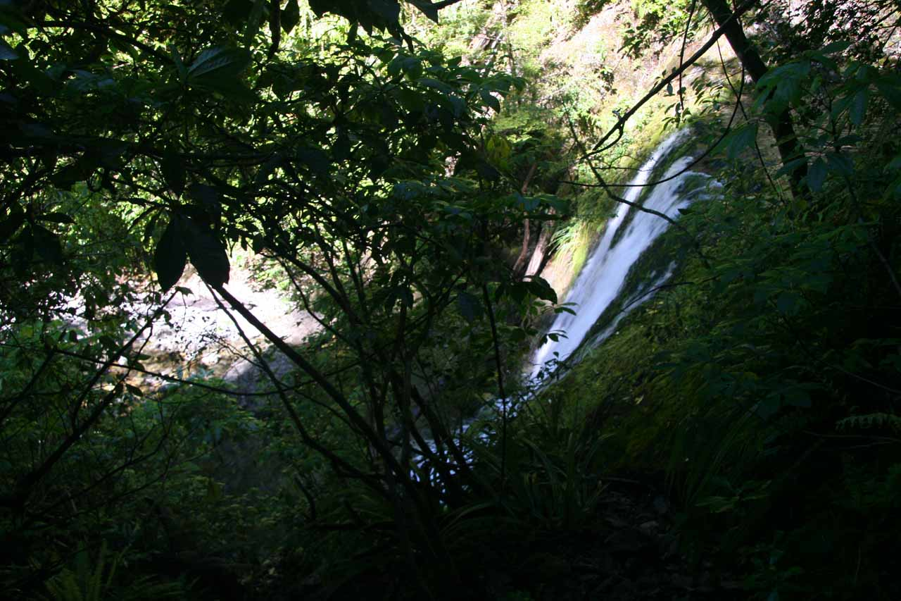 Partial top down views of the bottommost of the Ryde Falls