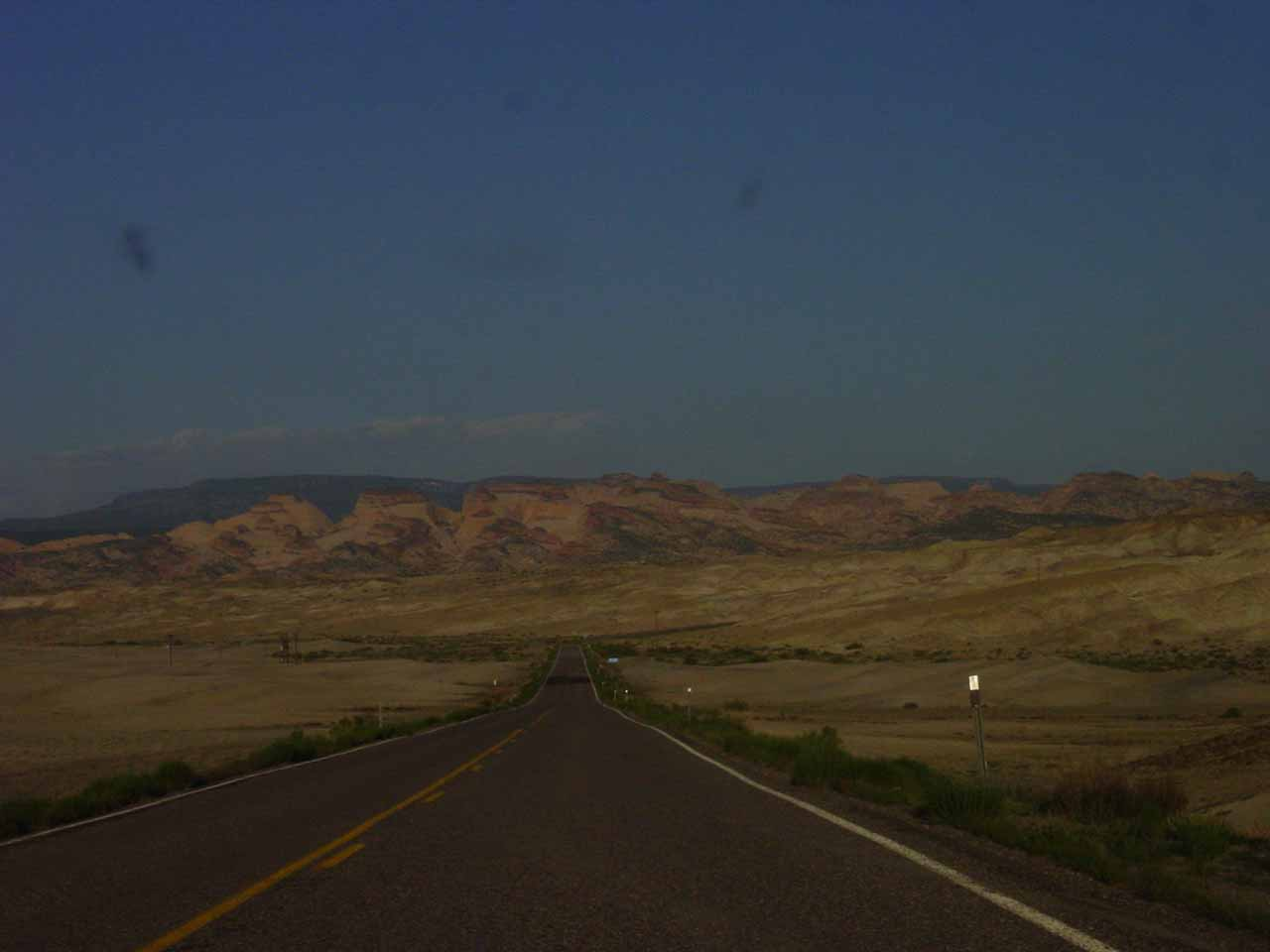 Heading towards Capitol Reef after leaving Hanksville