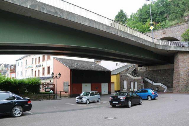 Saarburg_Waterfall_001_06182018 - The car park beneath the bridge that we used by the Alt Saarburg