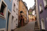 Saarburg_Waterfall_009_06182018 - A steeply sloping part of the Saarburg center where we rose from the bottom of the canal to the top where we could finally start seeing the Saarburg Waterfall