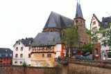 Saarburg_Waterfall_106_06182018 - Looking back across the canal towards the church from above the Saarburg Waterfall