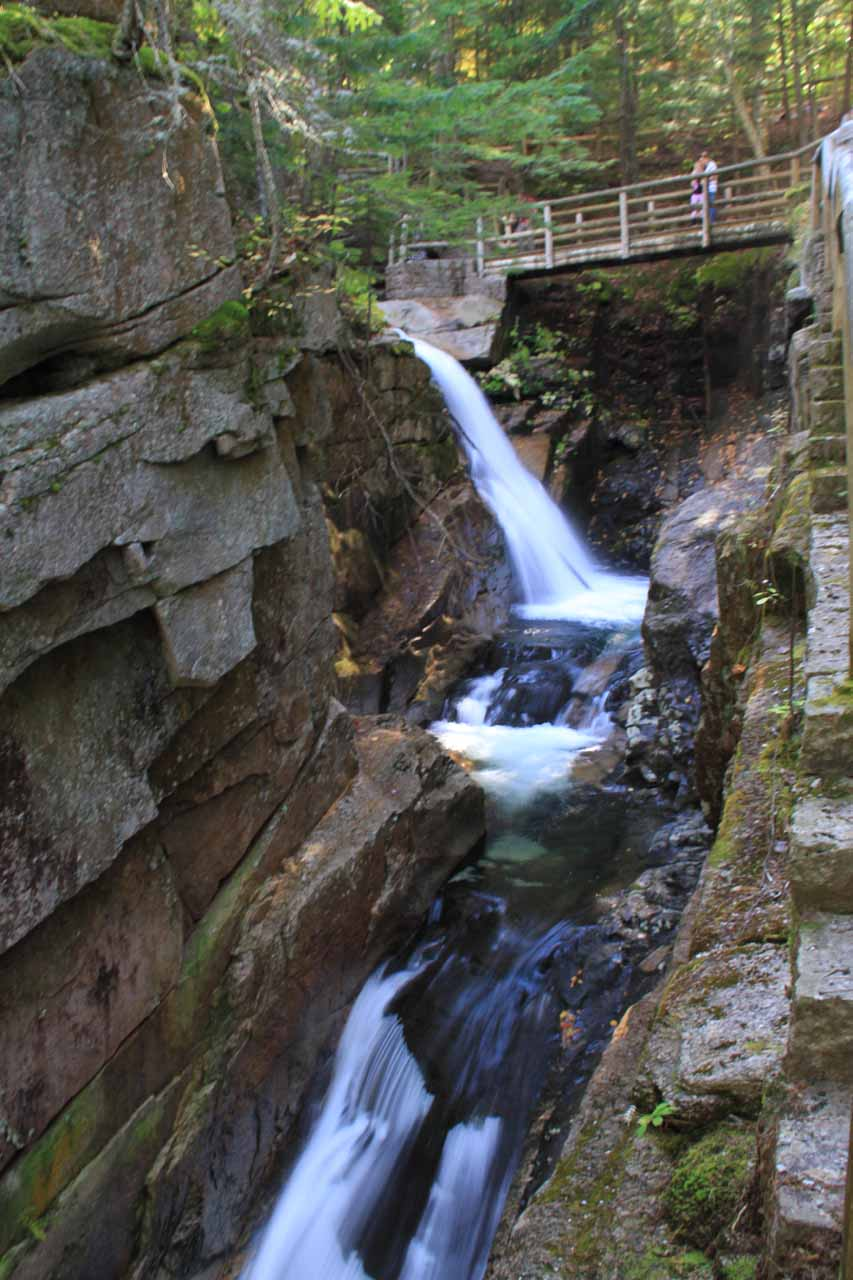 One of the partial views of Sabbaday Falls along the trail