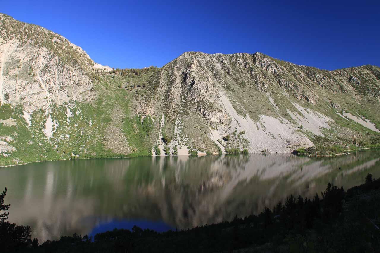 Looking back at Lake Sabrina