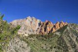 Sabrina_BP_060_08122011 - Looking back at iron-rusted mountains perched well above Lake Sabrina
