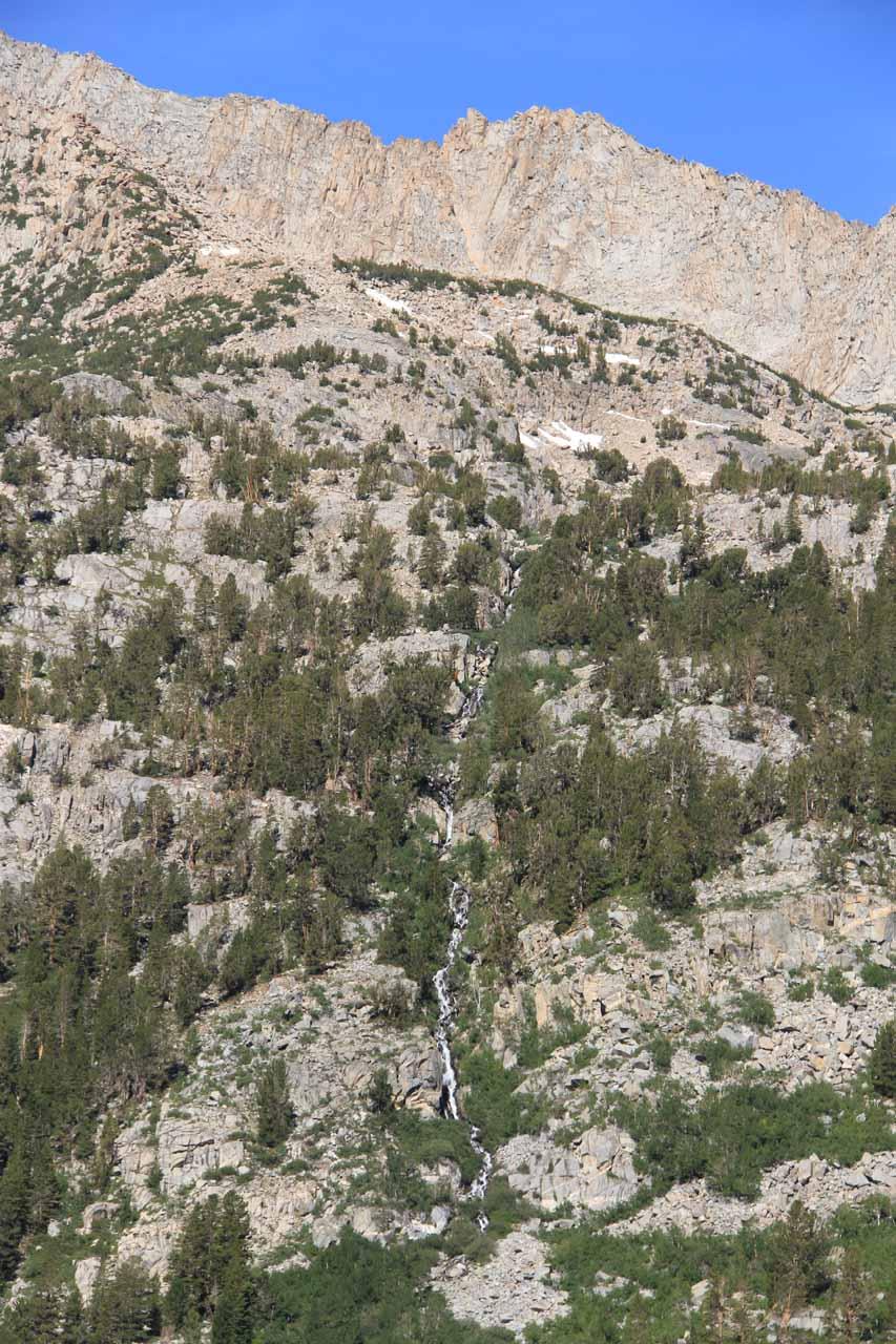 Thin cascade near headwaters of Lake Sabrina
