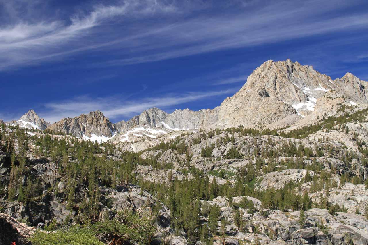 Granite peaks becoming more prominent
