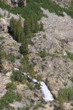 Sabrina_BP_082_08122011 - Looking down at the cascade spilling into Lake Sabrina
