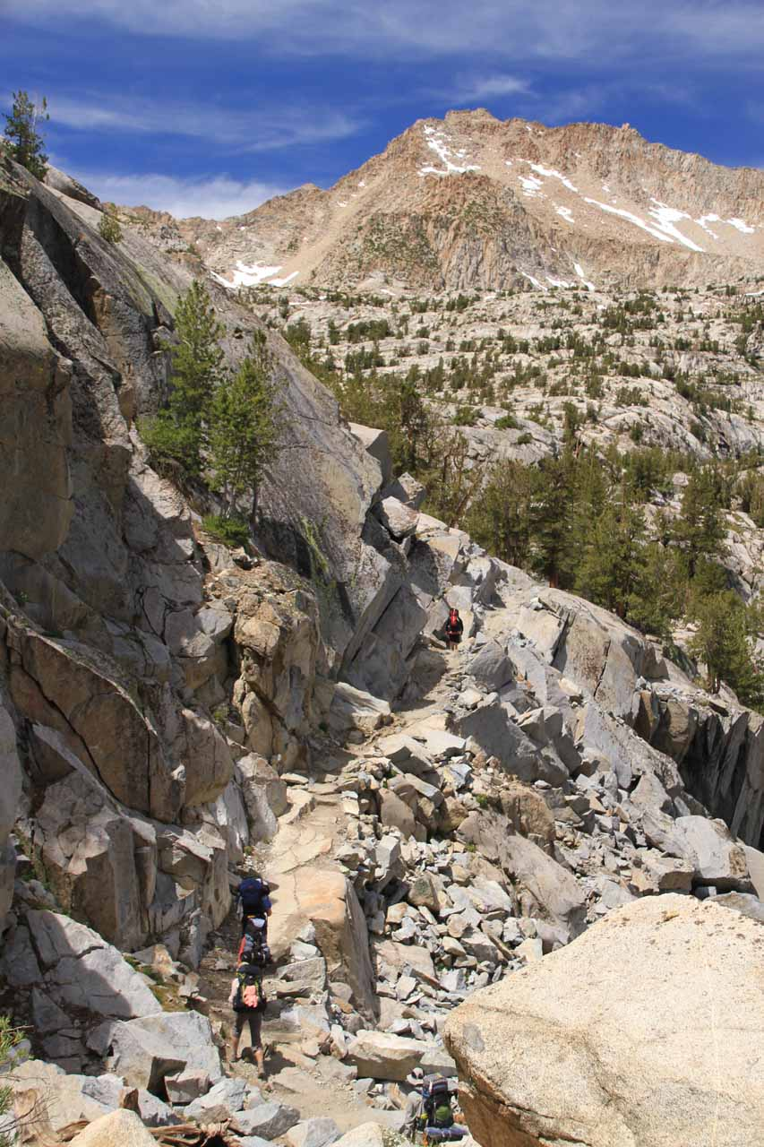 More climbing as granite became the more predominant terrain