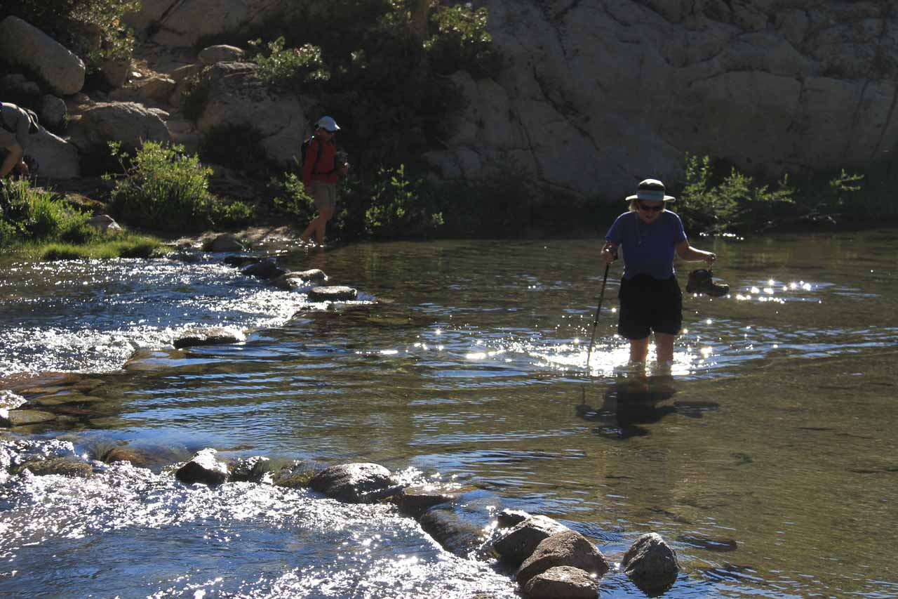 Some in our group waded across the creek