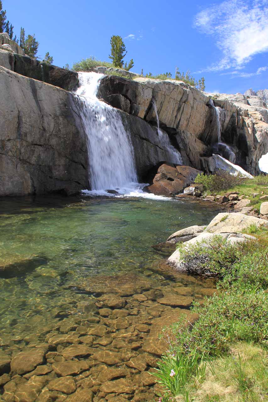 Moonlight falls inyo national forest near bishop - Crystal pools waterfall ...