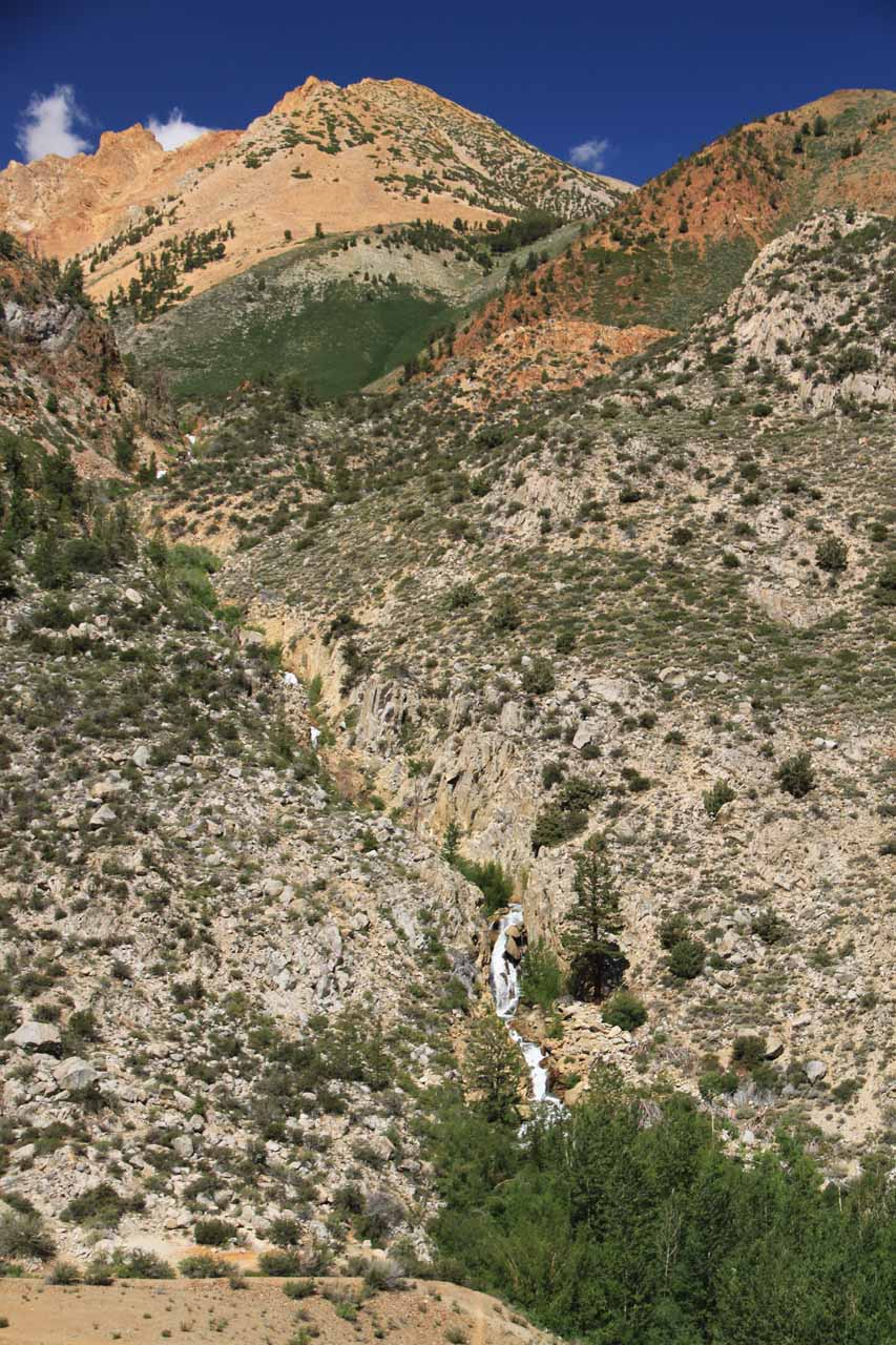 Partial view of cascade near Aspendell