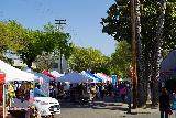 Sacramento_086_04102021 - Looking towards the rows of tents set up for the Midtown Farmer's Market.  Now this was a different kind of tent unlike what we had seen in Portland and Eugene
