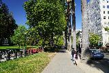 Sacramento_101_04102021 - Julie and Tahia walking alongside Capitol Park as we headed west towards Old Sacramento