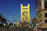 Sacramento_117_04102021 - Getting closer to the interesting-looking Gold Bridge over the Sacramento River near Old Sacramento