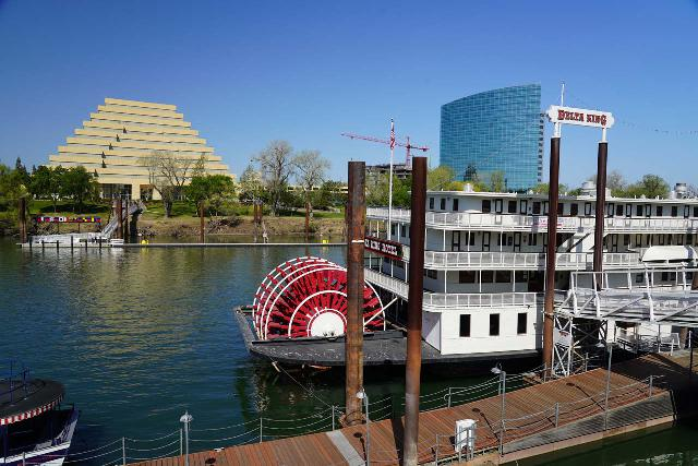 Sacramento_150_04102021 - It was about an hour's drive from Foresthill (or 2 hours drive from Grouse Falls) to Sacramento. Shown here is the historic Old Sacramento by the Sacramento River, which was a charming spot to visit considering most of the museums were closed due to COVID-19 during our Spring Break visit