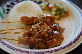 Sacramento_167_04102021 - This was the satay that Tahia liked served up at the Indonesian place in Old Sacramento