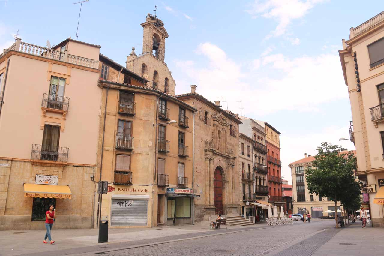 Looking east from the Plaza del Corrillo in Salamanca