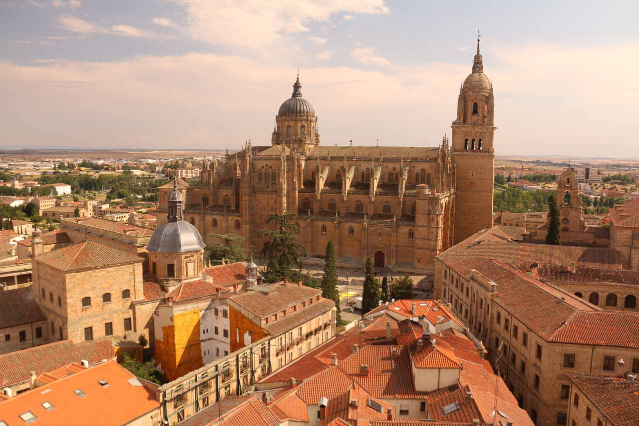 Unobstructed view of the Cathedral from the Scala Coeli