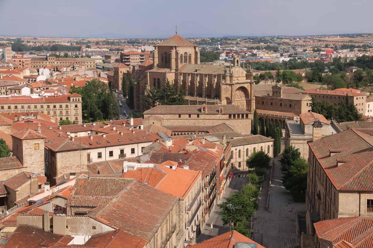 Looking directly towards the Convento de las Duenas or Convento de San Esteban from Scala Coeli