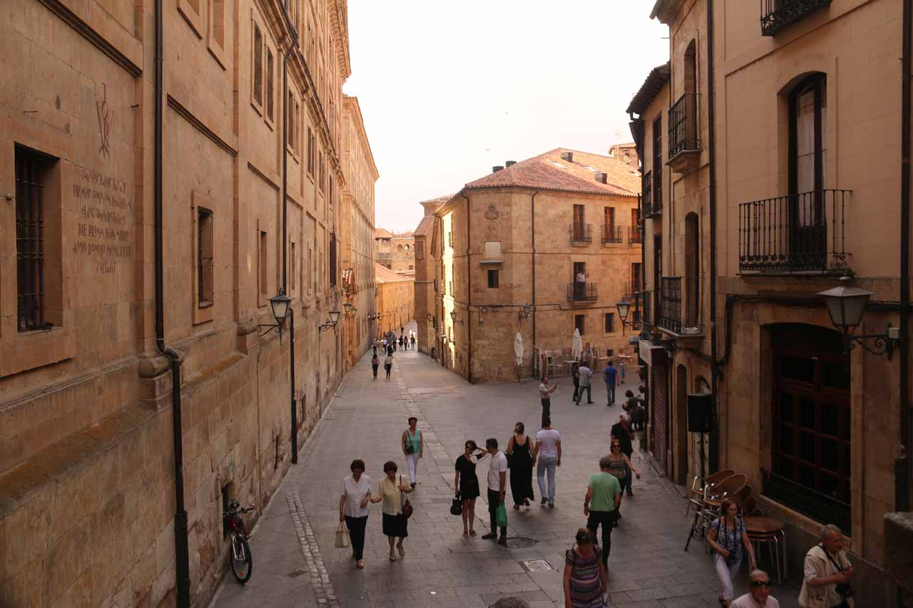 Leaving the Scala Coeli and getting back on the Calle Compania