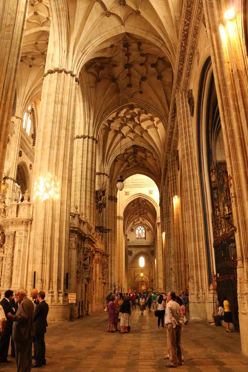Lots of people gathered near the main altar trying to observe and partake in the Corpus Cristi ceremonies