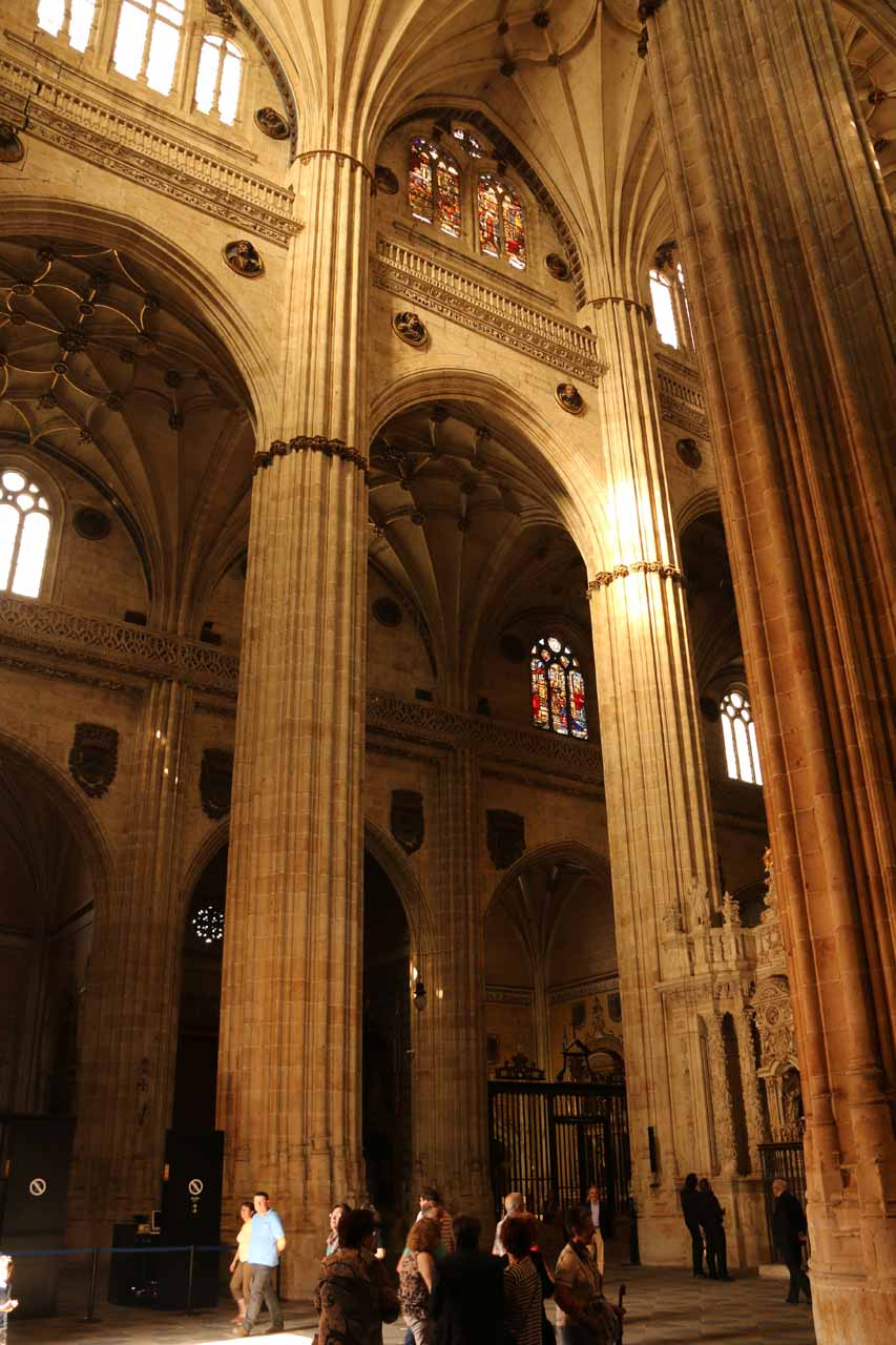 Last look at the interior of the New Cathedral in Salamanca before heading back outside
