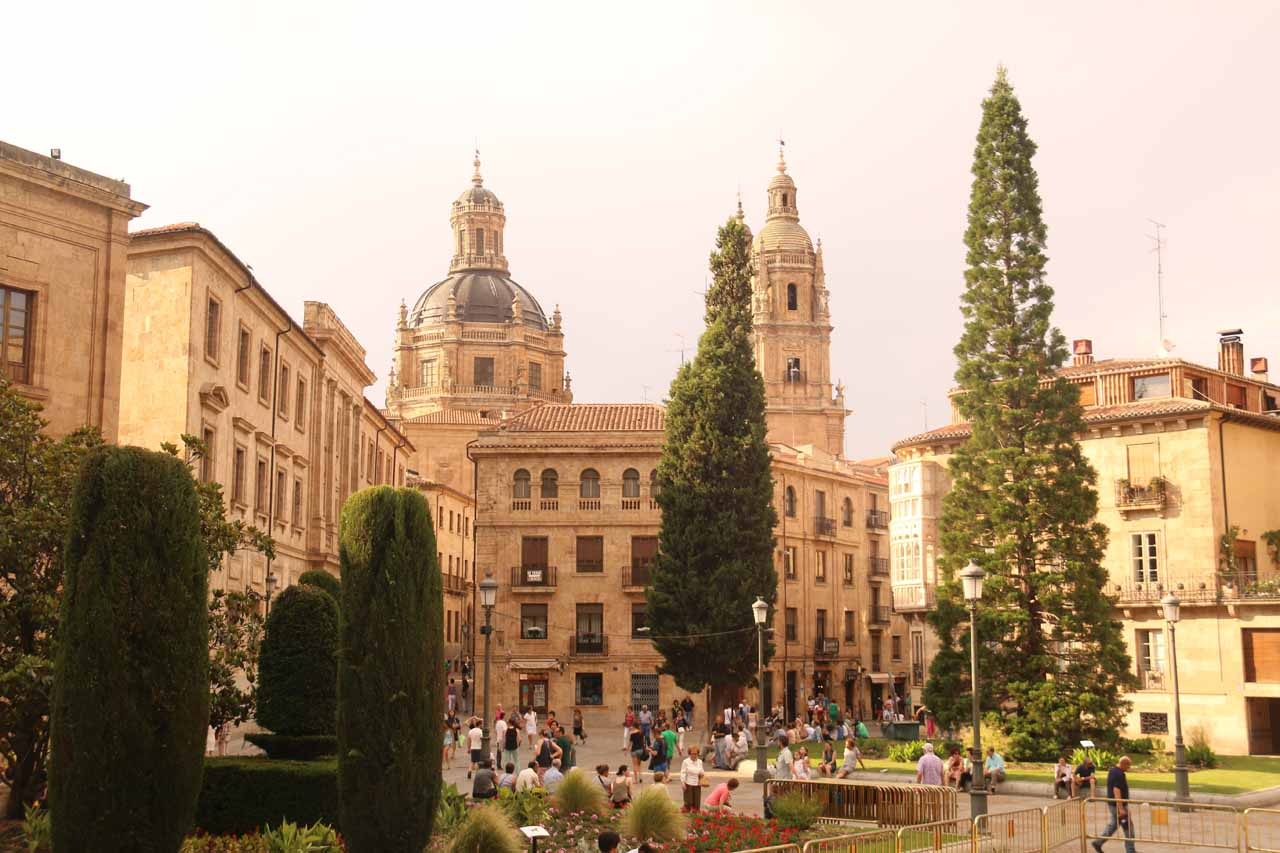 Looking back across the cathedral towards some government building in Salamanca
