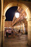 Salamanca_307_06072015 - Looking through one of the arches surrounding the Plaza Mayor de Salamanca