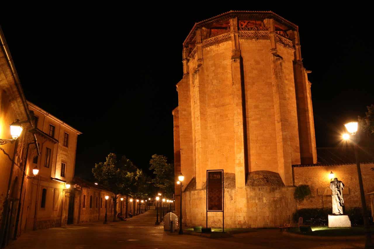 Looking towards the Convento de las Ursulas