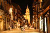 Salamanca_438_06072015 - Julie and Tahia back on Rua Mayor headed back towards the lit up cathedral