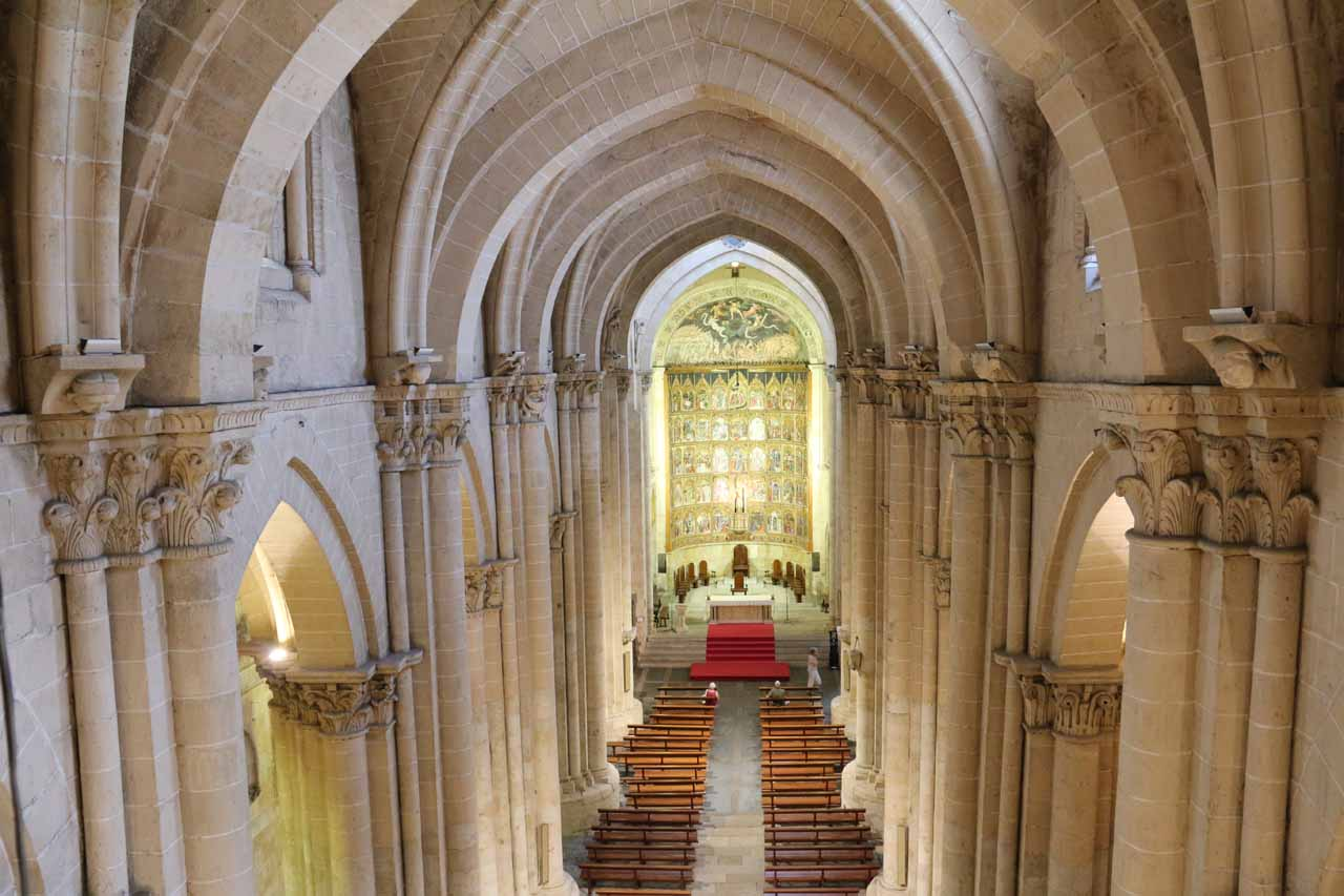 Looking into the altar of the Old Cathedral from the upper decks of Ieronimus