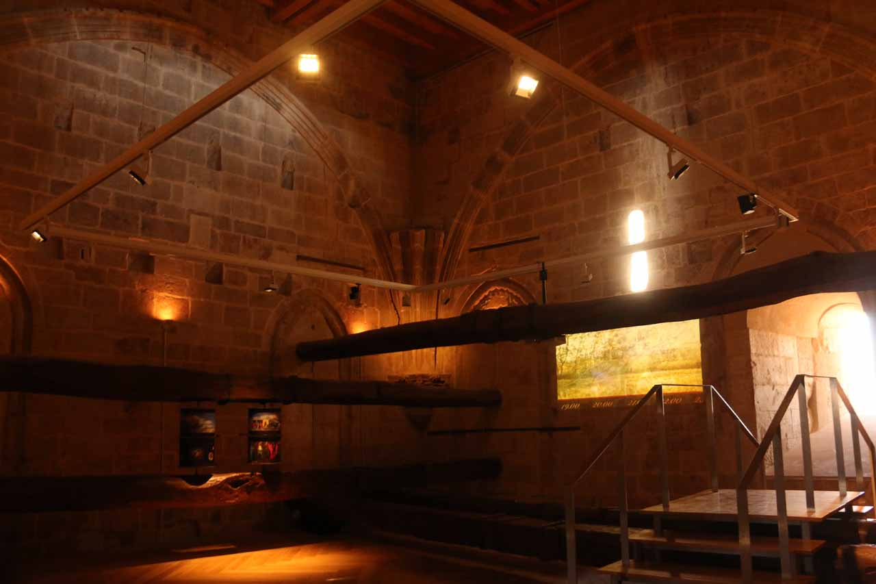 Inside one of the rooms on the way up to the bell tower of the New Cathedral courtesy of Ieronimus