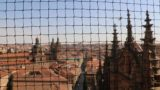 Salamanca_579_06082015 - No panoramas from the bell tower of the New Cathedral because of these nets