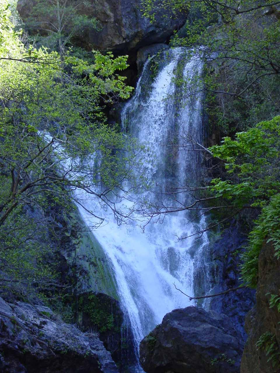 Closeup of the main plunge of Salmon Creek Falls in 2003