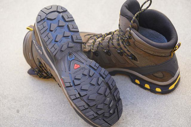 The proprietary Contragrip sole of the Salomon Quest 4D 3 GTX Hiking Boot