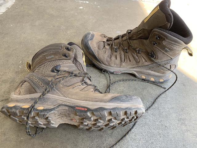 These were the Salomon boots that we returned after finding performance issues after heavy use